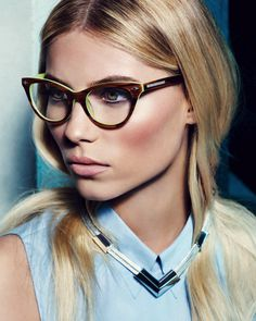 Vika Falileeva by Tom Munro for Vince Camuto's Campaign #glasses #model #girl #photography #portrait #fashion #editorial
