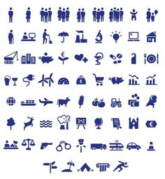 Sample of CBS icons #icon #symbol #pictogram