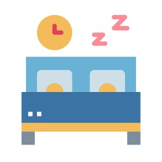 See more icon inspiration related to sleep, bed, room, furniture and household, bedroom, relax and rest on Flaticon.