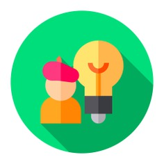 See more icon inspiration related to artist, idea, mind, art and design, ui, professions and jobs, thinking, ideas, brain, artistic and head on Flaticon.