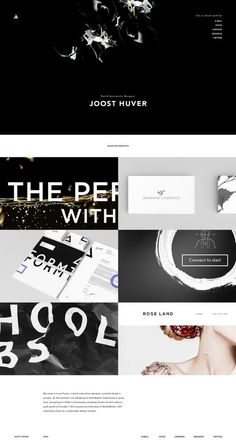 New portfolio launch - www.joosthuver.com #portfolio #design #interface #website #web