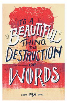 """millionsmillions:superpreciousgallery:""""Destruction of Words""""Vaughn Fender, CTvaughnfender.com, @vaughnfender11"""" x 17"""" Edition of 4, #bomb"""