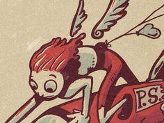 Dribbble - Cupid: The Victim's Interlude by Joonbug #illustration #cupid