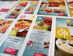 The Café on the Behance Network #photography #design #colour #menu