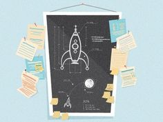 Dribbble - Day Trip by Glenn Thomas #illustration #plans #rocket