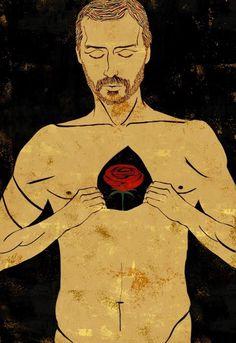 Fabio Novembre ritratto da Emiliano Ponzi #heart #chest #fabio #painting #man #novembre