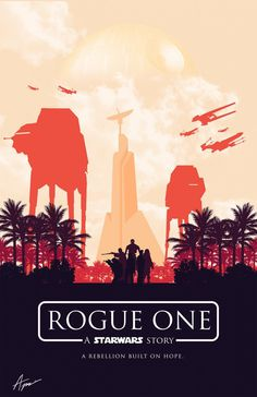 Star Wars Posters – Minimalist Rogue One