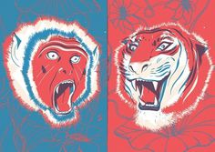 Nobrow 2 – Pietari Posti – Illustrators & Artists Agents – Début Art #illustration #tiger #monkey