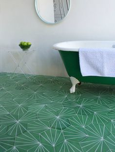 Claesson Koivisto Rune tiles. | Pattern on Pattern #pattern #bathroom #bath #tiles