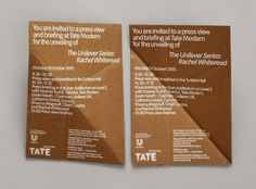 Rachel Whiteread: Embankment invitation   Cartlidge Levene