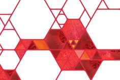 King Saud, University on Behance #pattern #polygon #molecule #building identity