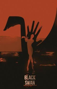 Minimal Movie Posters #movie #swan #minmal #black #poster #minimalist