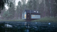 wild cabins wide open moxon architects designboom #cabin