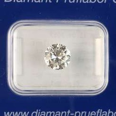 Flawless brilliant: 1,16 carat, Wesselton / White, cut is very good.