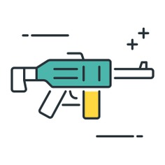 See more icon inspiration related to gun, rifle, miscellaneous, sniper, arm, pistol, weapons, weapon, war and security on Flaticon.