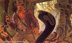 Original 'Indiana Jones' Concept Art by Jim Steranko | /Film #illustration #snake #concept art #indiana jones