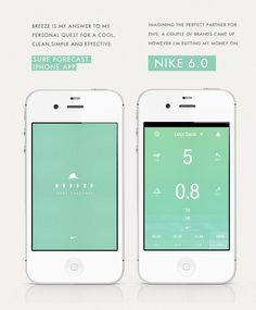 BREEZE #wind #surf #design #iphone #nike #app #mobile #waves