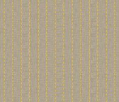 grey_diamond_linen - holli_zollinger - Spoonflower #pinstripe #yellow #linen #grey