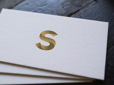 Business cards S monogram #bcards #s #letter #gradient #typography