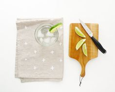White Plus Tea Towel #towel #tea