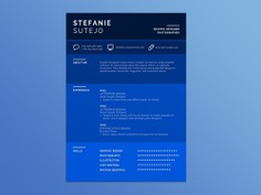 Free Blue Infographic Resume Template for Job Seeker