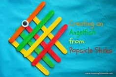 Angel fish popsicle stick craft #diy #fish #sea