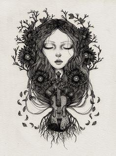 Dotwork Illustration by Annita Maslov