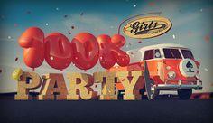 Benjamin Simon // 3D Illustrations #longboard #balloons #cgi #girls #type #3d #typo #crew