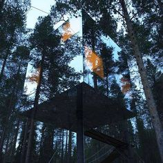 Tree Hotel by Tham and Videgard Arkitekter #mirror #architecture