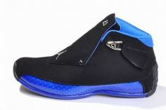 michael retro jordan xviii black blue shoes