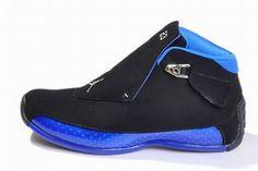 michael retro jordan xviii black blue shoes #shoes