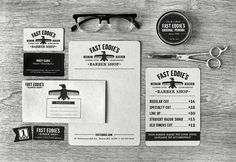 Fast Eddie's Barber Shop on Behance