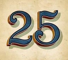 25_VintageLetterring #numerals