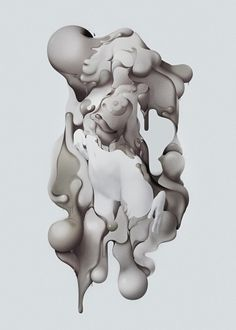 4650.jpg 650×909 pixels #goo #abstract #ehren #flow #forms #blob #liquid #kallman #drip #mikeal #grey