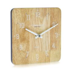 London Clock Company 'Flux' Solid Wood Mantle/ Table Clock, 18cm x 18cm