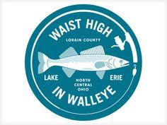 Waist High in Walleye #fishtown #illustration #fish