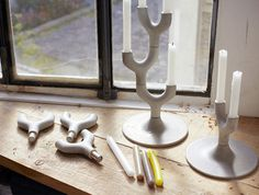 Cement Candlestick by Jean-Charles Amey