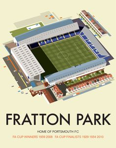 Fratton Park, Portsmouth #fratton #pfc #isometric #park