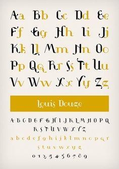 Novo Typo - Louis Douze - Type specimen #novo #design #typeface #typo #typography