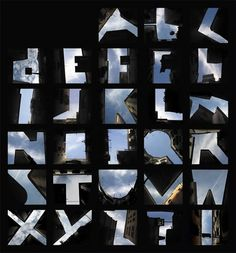 Type the Sky #architecture #typography