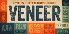 Veneer #distressed #letterpress #typeface