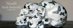Skull Butterfly Porcelain by French Artist NooN #limited #skull #art