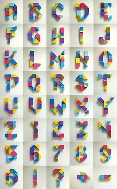 Deconstruct on the Behance Network #letters #block alphabet