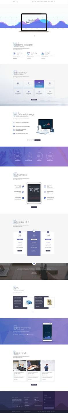 PSD Template for SEO websites on Behance