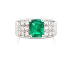 Smaragd-Brillant-Ring