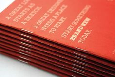 UC.DOD: Brand New Sketchbook #red #print #design #sketchbook #brochure