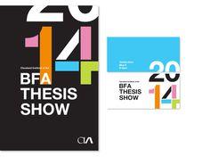 2014 BFA Identity - Nicole #helvetica #swiss #invitation