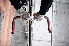 FFFFOUND! | YIMMY'S YAYO™ #tattoo #bike #hands
