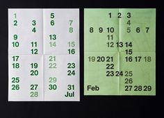 Studio Lin — High-res Special | September Industry #design #typography #calendar #numbers
