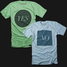 Ugmonk — YES/NO #shirt #symbol #tee #typography
